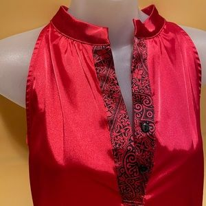 Le Chateau ✨NWT✨ Red Satin Blouse